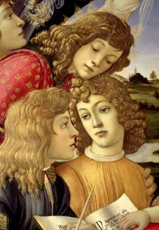 The Madonna of the Magnificat, Detail of Three Boys, 1482