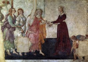 Venus And the Graces Offering Gifts To a Young Girl, 1486, Italian Renaissance by Sandro Botticelli