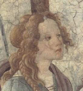 Venus and the Three Graces I (detail) by Sandro Botticelli