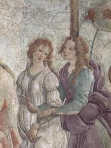 Vénus et les Grâces offrant des présents à une jeune fille by Sandro Botticelli
