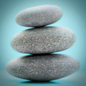 Stacking Stones 1 Teal by Sandro De Carvalho