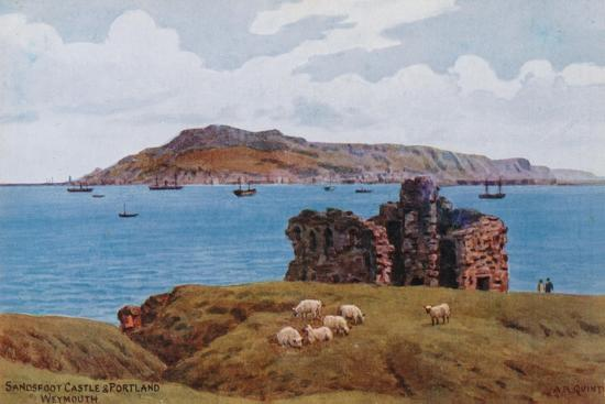 Sandsfoot Castle and Portland, Weymouth-Alfred Robert Quinton-Giclee Print