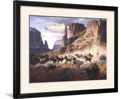 Sandstone and Stolen Horses-Jack Sorenson-Framed Photographic Print