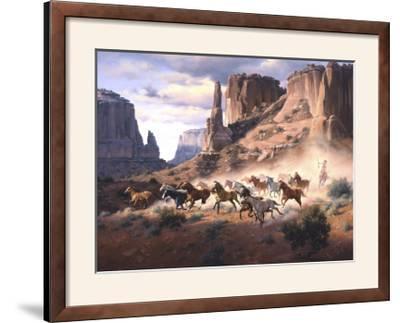 Sandstone and Stolen Horses-Jack Sorenson-Framed Photographic Print