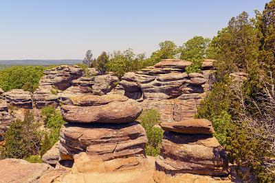 Sandstone Bluffs in the Wilderness-wildnerdpix-Photographic Print