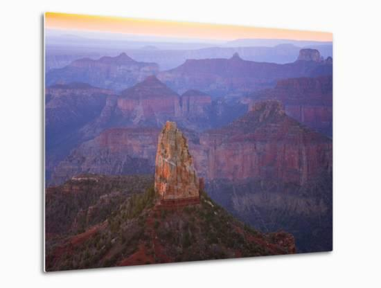 Sandstone Buttes and Cliffs at Grand Canyon National Park-John Eastcott & Yva Momatiuk-Metal Print