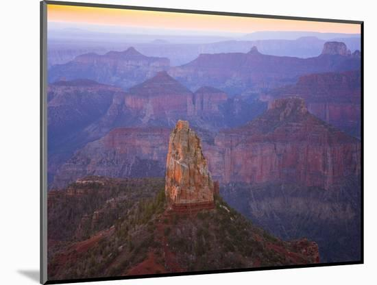 Sandstone Buttes and Cliffs at Grand Canyon National Park-John Eastcott & Yva Momatiuk-Mounted Photographic Print
