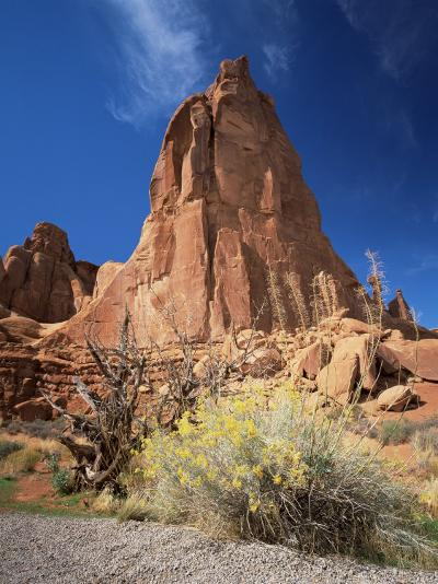Sandstone Cliffs, Arches National Park, Moab, Utah, USA-Lee Frost-Photographic Print