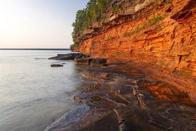 Sandstone Cliffs, Sea Caves, Devils Island, Apostle Islands Lakeshore, Wisconsin, USA-Chuck Haney-Photographic Print