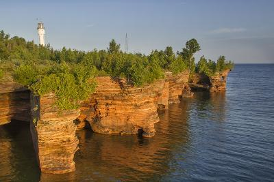 Sandstone Cliffs, Sea Caves, Devils Island, Apostle Islands Lakeshore, Wisconsin, USA-Chuck Haney-Photographic Print