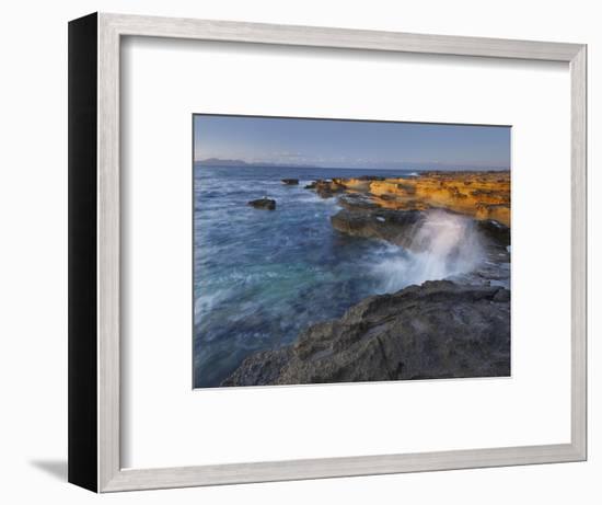 Sandstone Coast at Betlem, Del Llevant Peninsula, Majorca, Spain-Rainer Mirau-Framed Photographic Print