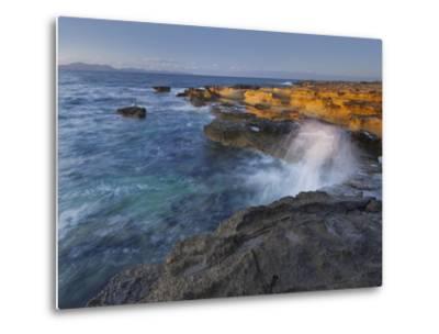 Sandstone Coast at Betlem, Del Llevant Peninsula, Majorca, Spain-Rainer Mirau-Metal Print