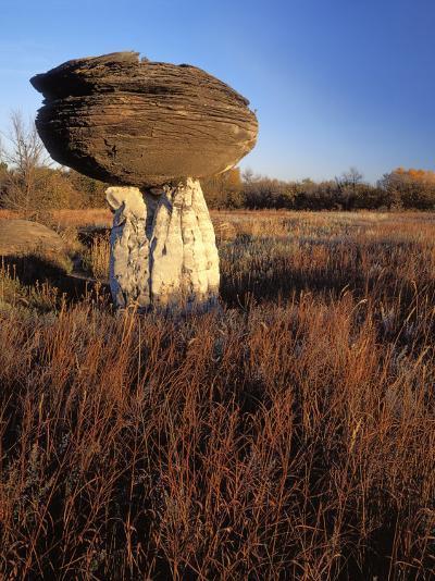 Sandstone formation, Mushroom Rocks State Park, Kansas, USA-Charles Gurche-Photographic Print
