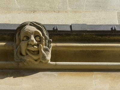 Sandstone Sculpture of a Funny Face, on the Wall of a Building-Joe Petersburger-Photographic Print