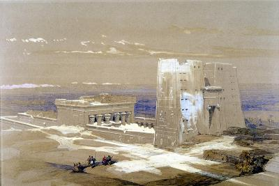 Sandstone Temple of Edfu, Dedicated to the Falcon-Headed God Horus, Egypt, 1838-Louis Haghe-Giclee Print