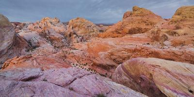 Sandstone, Valley of Fire State Park, Nevada, Usa-Rainer Mirau-Photographic Print