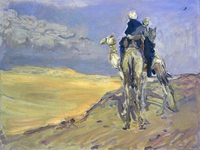 Sandstorm in the Libyan Desert, 1914-Max Slevogt-Giclee Print