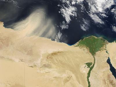 Sandstorm, Satellite Image--Photographic Print
