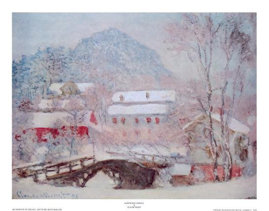 Sandvicken, Norway-Claude Monet-Art Print