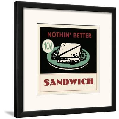Sandwich--Framed Art Print