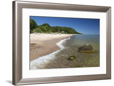 Sandy Beach in Summer, Stenshuvud National Park, Near Kivik, Skane, South Sweden, Sweden-Stuart Black-Framed Photographic Print