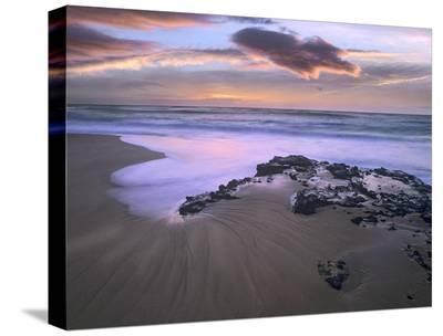 Sandy beach, Oahu, Hawaii-Tim Fitzharris-Stretched Canvas Print