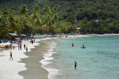 Sandy Cay. British Virgin Islands, Tortola. People Walking on the Beach at Cane Garden Bay-Kevin Oke-Photographic Print