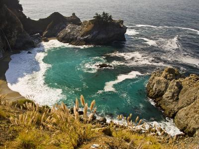 Sandy Cove Off the Coast of Route 1 in Big Sur-Michael Melford-Photographic Print