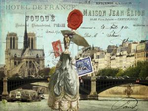 Postcards of Paris VI by Sandy Lloyd