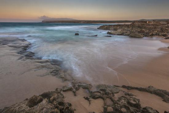 Sandy Shore at Kaehu Point, Mo'Omomi Beach, Nature Conservancy, Molokai, Hawaii-Richard Cooke III-Photographic Print