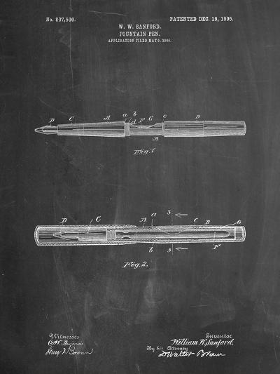 Sanford Fountain Pen 1905 Patent-Cole Borders-Art Print