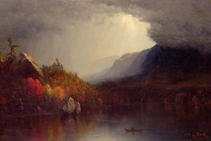 Study of a Coming Storm on Lake George, 1863 by Sanford Robinson Gifford