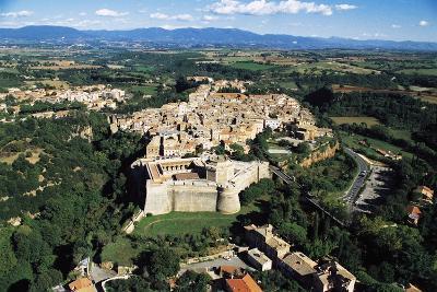 Sangallo Fort (15th-16th Century) and Town of Civita Castellana, Lazio, Italy--Photographic Print