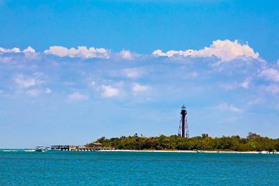 Sanibel Lighthouse and Pier-KennethKeifer-Photographic Print