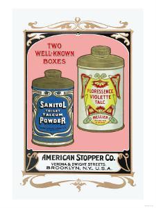 Sanitol Talcum Powder and Floressence Violette Talc