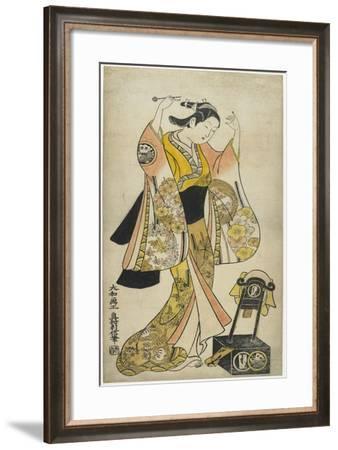 Sanjo Kantaro II as Yaoya Oshichi, 1718-Okumura Toshinobu-Framed Giclee Print