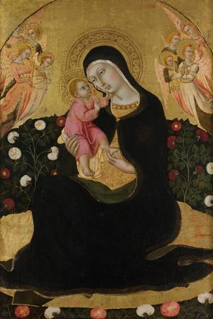 The Virgin and Child with Angels (Madonna of Humilit), Mid of the 15th C