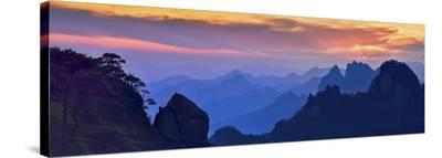 Sanqing Mountain Sunset-Mei Xu-Stretched Canvas Print
