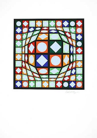 Sans Titre 3 (F.V. 3/30)-Victor Vasarely-Limited Edition