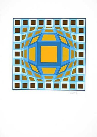 Sans Titre 5 (F.V. 3/30)-Victor Vasarely-Limited Edition