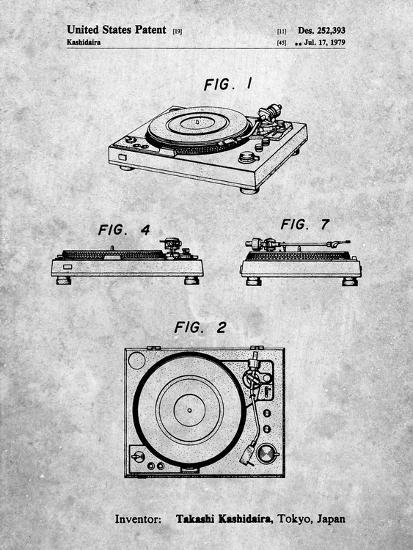 Sansui Turntable 1979 Patent-Cole Borders-Art Print