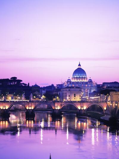 Sant'Angelo Bridge over Tiber River-Dennis Degnan-Photographic Print