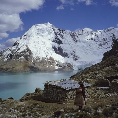 Santa Ana Lake, Raura Range, Peru--Photographic Print