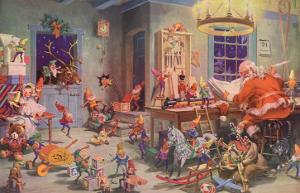 Santa and Elves, Workshop