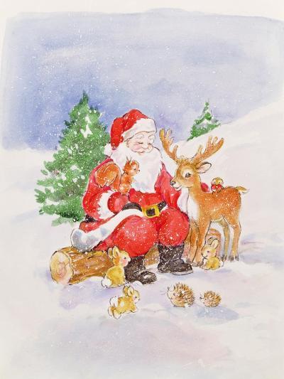 Santa and Friends-Diane Matthes-Giclee Print