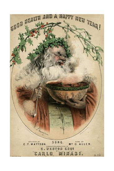 Santa and Punchbowl-W Brandard-Giclee Print