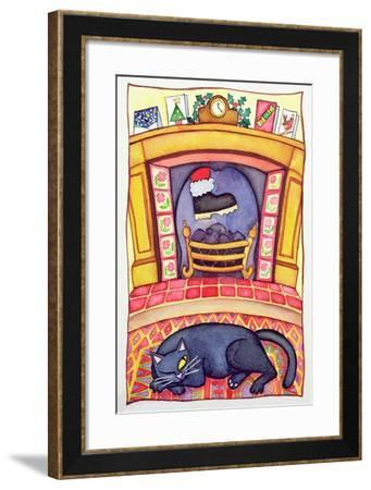 Santa Arriving Down the Chimney-Cathy Baxter-Framed Giclee Print