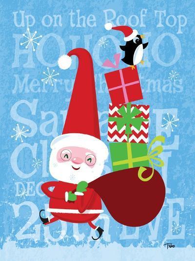Santa & Bag of Presents-Teresa Woo-Art Print