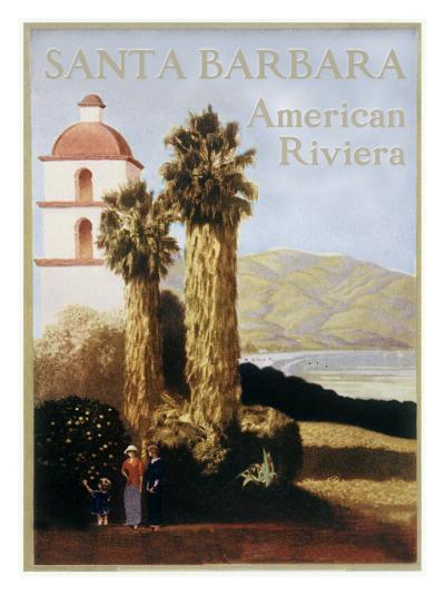 Santa Barbara American Riviera--Giclee Print
