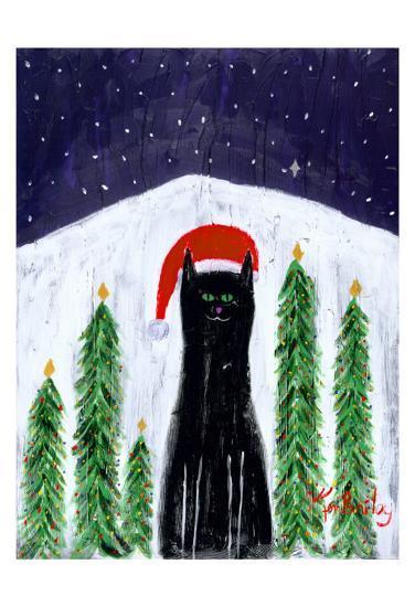 Santa Cat-Ken Bailey-Collectable Print